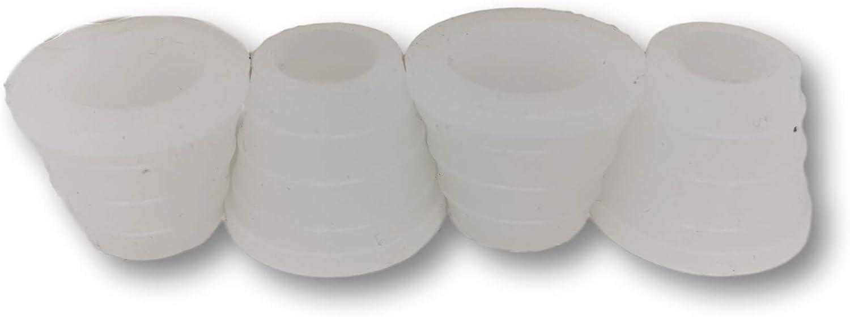 Ekna Shisha juntas de goma grandes – Juego de 4 juntas – Junta de silicona para cachimba – Junta para pipa de agua – Junta de cabeza de arcilla
