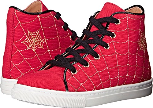 Charlotte Olympia Baby Girl's Incy Web High-Tops (Toddler/Little Kid) Red Canvas 33 M EU by charlotte olympia