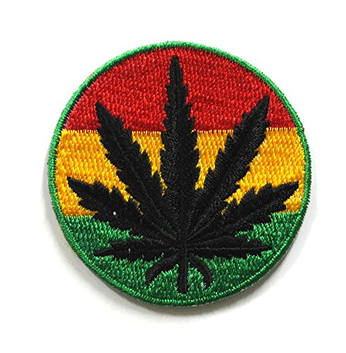 (Bob Marley Patches - Marijuana Patch - Cannabis Patch -Leaf Patches - Applique Embroidered patches - Iron on Patches - Backpack Patches - Size 6 x 6)