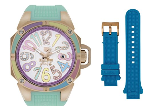 TechnoSport TS-200-1M Women's Splash Turquoise & Aquamarine Strpas Swiss Watch