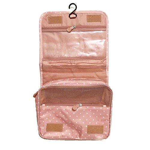 Women Men's Wash Bag Hanging Large Travel Case,Toiletries Kit,Makeup Pouch Bags (Pink (Cheap Monogram Stuff)