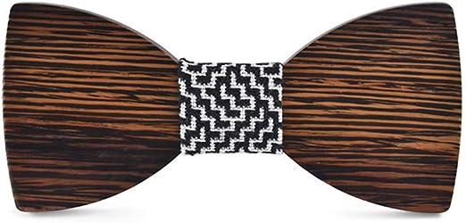 Pajaritas Moda Hombre Nogal natural de madera corbatas de lazo ...