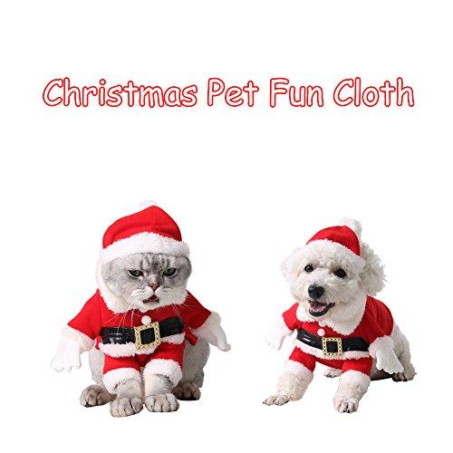Pets Halloween Clothes Santa Claus Set Dog Cats Costume suit Funny Dress (XL)
