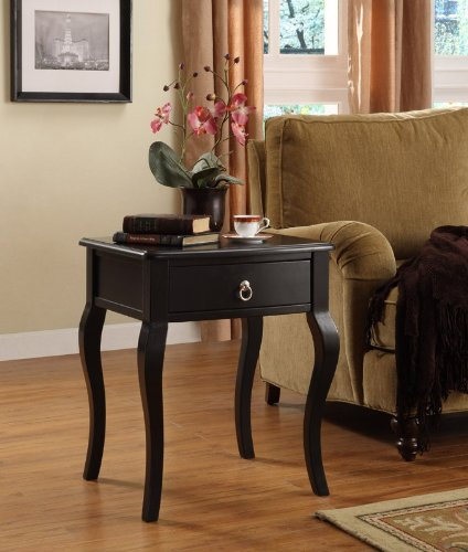 Powell Country French Black 1-Drawer Accent Table Review