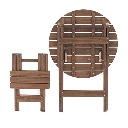 KSW_KKW Mesa Plegable Redonda portátiles y sillas de la terraza ...