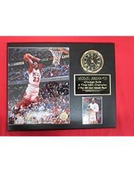 0ad734ed087 Michael Jordan Chicago Bulls SLAM DUNK Collectors Clock Plaque w/8x10 Photo  and Card