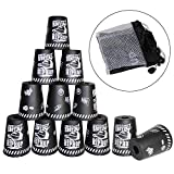 Quick Stacks Cups, 12 PC of Sports Stacking Cups Speed Training Game (Graffiti Black)