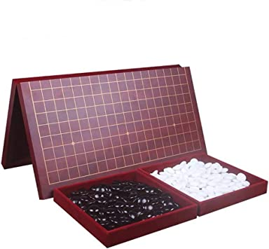 GZ Weiqi IR Juego Conjunto Plegable Goban 19 x 19 Convexa Doble for 2-Players - Classic Estrategia Juego de Mesa for niños y Regalo (Size : Double Convex) : Amazon.es: Juguetes y juegos