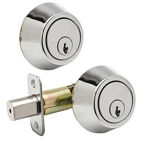 - Designers Impressions Polished Chrome Double Cylinder Deadbolt Kwikset Keyway (We Key Lock Orders Alike for Free)