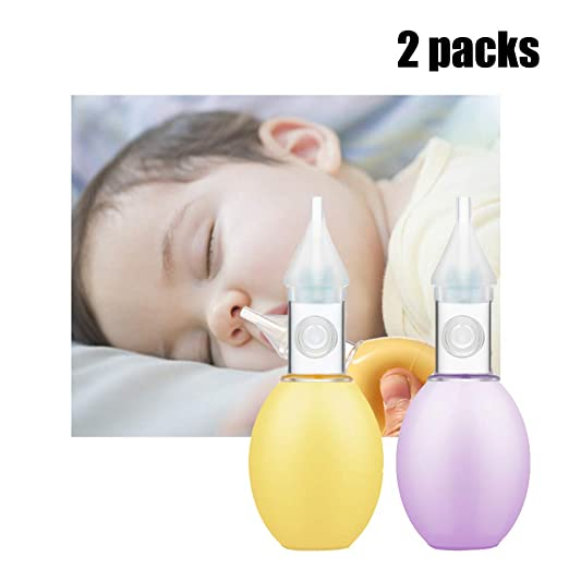 HBIAO Aspirador Nasal para bebés, Aspirador Nasal de Silicona para ...