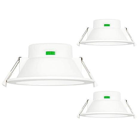 Lamparas Plafon Focos Empotrables LED de Techo 12W Regulable Brillo Alto para Baños Cocina Luz Calida y Fria Ajustable 220V-240V Diámetro de Agujero ...
