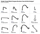 Achla Designs J-Hook Wall Bracket, 3-inch