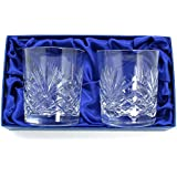 Set of 2 Old Fashioned 10oz Glass Tumblers by Sayers London