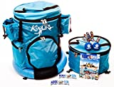Koolbol Tailgate Water Sports Combo Game & Backpack Carry All w/Removable Floating Party Cooler Holds 14 Drinks, 4 Meals, Gear, Beach Chairs, More. Ultra-Durable, Water Resistant Scratch Free Nylon