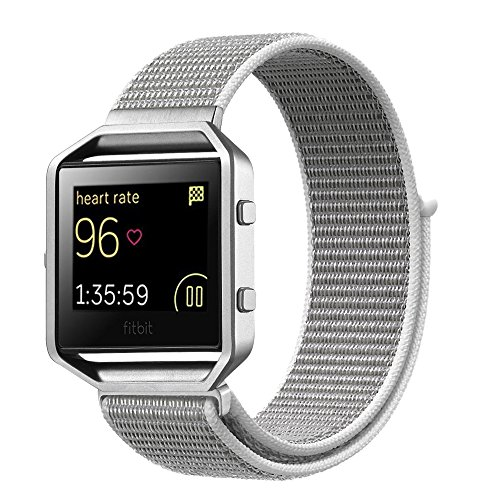 For Fitbit Blaze Band,Yichan Nylon Sport Loop with Hook and Loop Adjustable Fastener Wrist Strap & Metal Frame Housing for Fitbit Blaze Smart Fitness - Are Made How Seashells