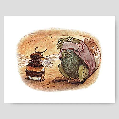 Beatrix Potter Print (Peter Rabbit Wall Decor, Baby Nursery Art)