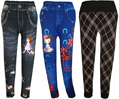 KIFAYATI BAZAR Girl's Leggings & Tights (Pack of 3)