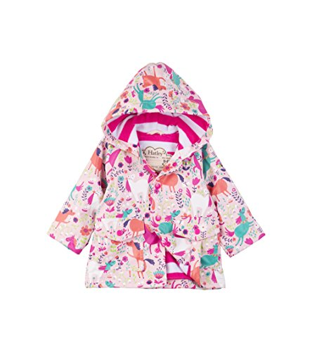 Hatley Baby Girls Printed Raincoats, Roaming Horses, 18-24 Months