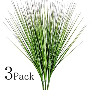 "27"" Artificial Plants Onion Grass Greenery Faux Fake Shrubs Plant Flowers Wheat Grass for House Home Indoor Outdoor Office Room Gardening Indoor Décor 20"
