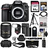 Nikon D7500 Wi-Fi 4K Digital SLR Camera Body with 18-300mm VR Lens + 64GB + Battery & Charger + Case + 3 Filters + Tripod + Flash + Kit Review