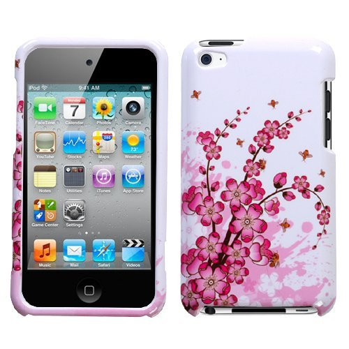 Spring Flowers Phone Protector Faceplate Cover For APPLE iPod touch(4th generation)