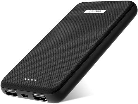 Vancely Batería Portátil 10000Mah, Dual Puertos Bateria Externa para Movil con indicador de Estado LED, Compatible con iPhone, iPad, Samsung Galaxy, Huawei Y Otros Smartphones (Negro): Amazon.es: Electrónica