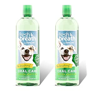 Tropiclean Fresh Breath Plaque Remover Pet Water Additive 33.8 Ounce 2 Pack 10