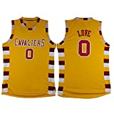 No.0 Love Jersey Basketball Jersey Sports Embroidery Men's Jersey Yellow XXL