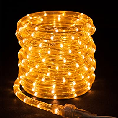 American Lighting 27ft White LED Rope Lights Christmas Holidays Indoor Outdoor