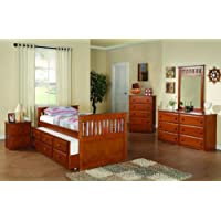 Twin Mission Captains Espresso Trundle Bed