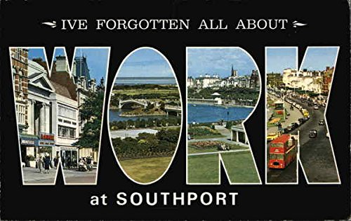 I've Forgotten All About Work at Southport Multi Views Original Vintage Postcard