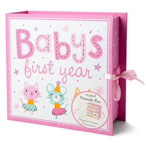 Baby Keepsake Boxes - Various Designs (Baby's First Year) - Baby Shoe Keepsake