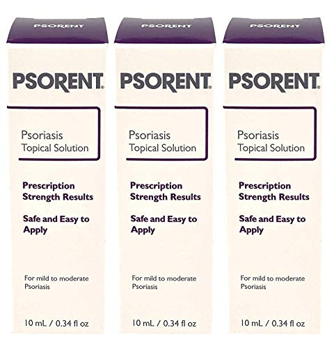 Psorent Psoriasis Topical Solution, Over The Counter Psoriasis Treatment, 0.34 fl. oz (3) (Best Over The Counter Psoriasis Treatment)