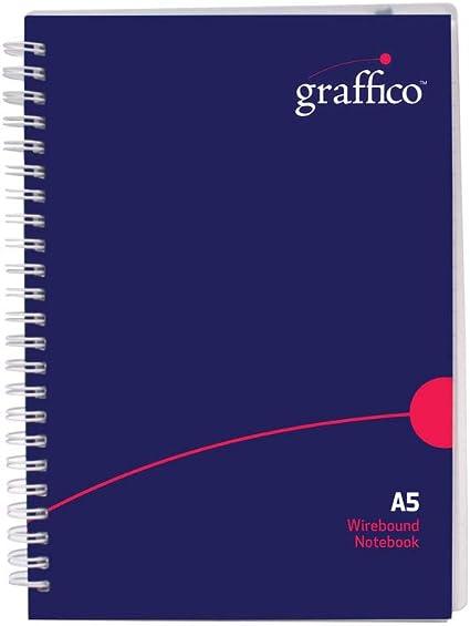 Nu Elite A5 graffico Twin cable cuaderno de polipropileno de 140 páginas (Pack de 1): Amazon.es: Oficina y papelería