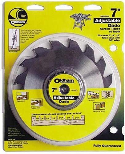 Oldham 7005012 Adjustable Carbide Dado Blade, 7