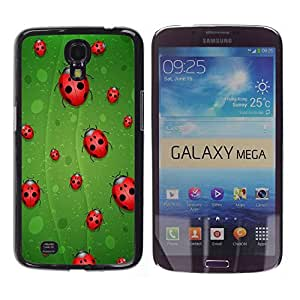 LASTONE PHONE CASE / Slim Protector Hard Shell Cover Case for Samsung Galaxy Mega 6.3 I9200 SGH-i527 / Ladybug Leaf Green Red Art Nature Eco Spring Bug by ruishername