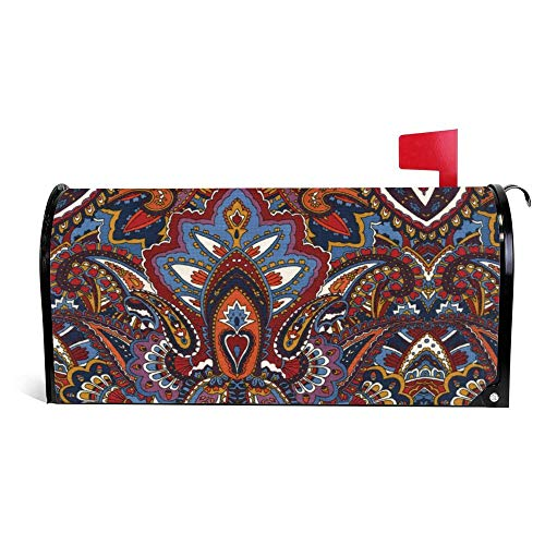 DKISEE Magnetic Mailbox Cover Indian Summer Spice Gypsy Heart Mailbox Wraps Post Letter Box Cover 18