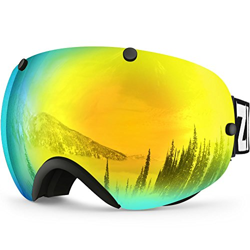 Male Triple Face Mask (ZIONOR Lagopus XA Ski Snowboard Goggles for Adult Men Women with UV Protection Spherical Dual Lens Design)