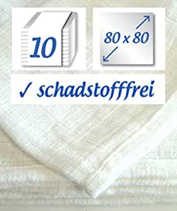 "Pack of 10, 80x80cm 31.5""x31.5"", Muslin Squares Diaper Cotton Baby Cloth, - Original By Rezzu.®"