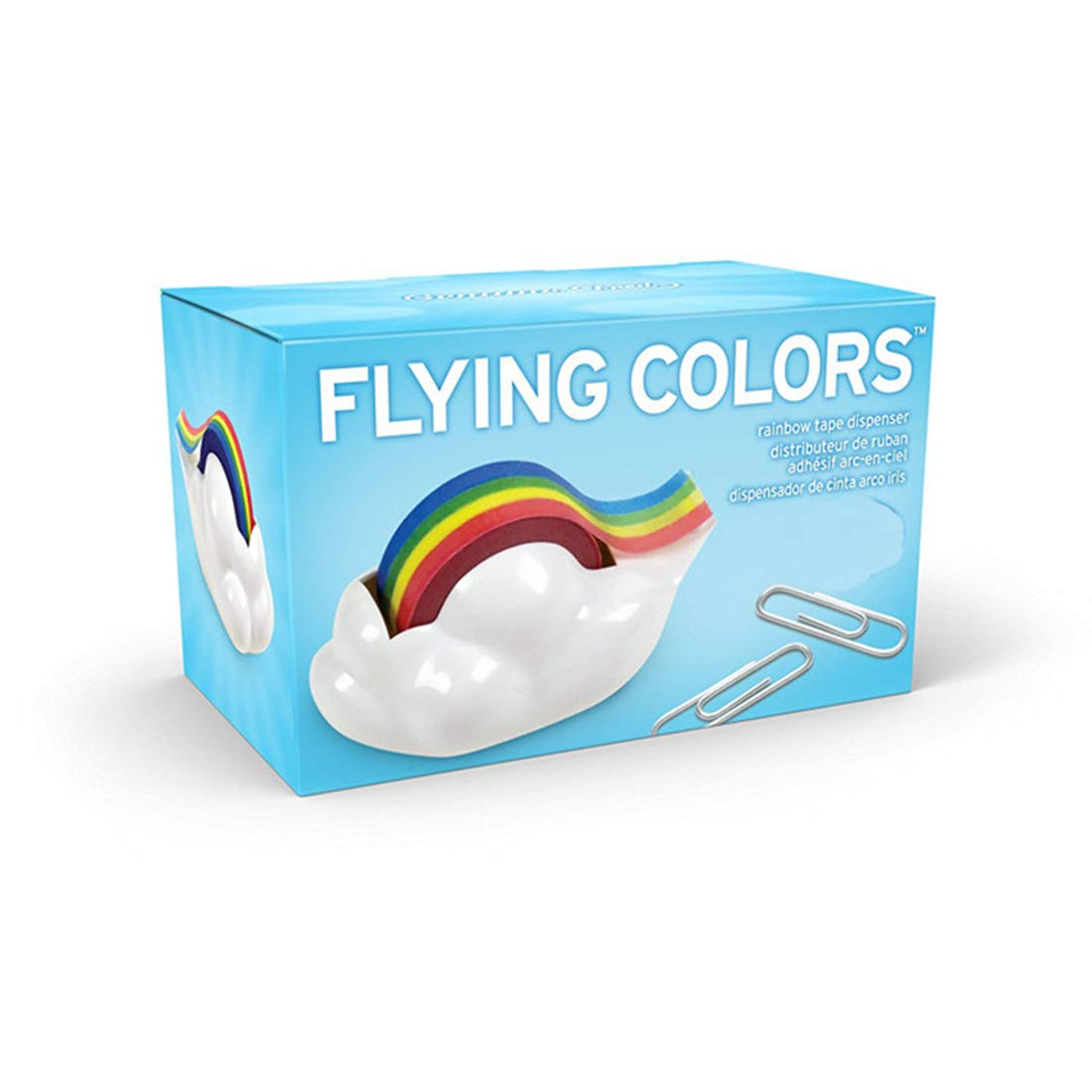 Amazon.com : Desktop Cloud Rainbow Tape Dispenser Ayiguri (1 Dispenser + 1 Rainbow Tape) : Office Products