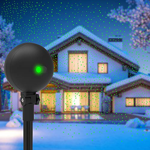 Outdoor Halloween Decoration Projects (Christmas Lights Projector Laser Light Xmas Spotlight Projectors Waterproof Outdoor Landscape Spotlights for Holiday Halloween Yard)