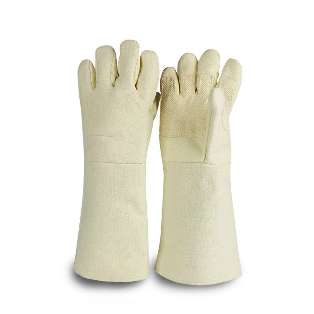 alta qualità e spedizione veloce Alta temperatura resistente 500 gradi isolati guanti guanti caldi resistenti resistenti resistenti ad alta temperatura,M  qualità ufficiale