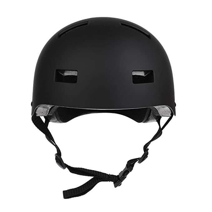 L BMX Bicycle Cycling Scooter Ski Skate Skateboard Protective Helmet Black XS