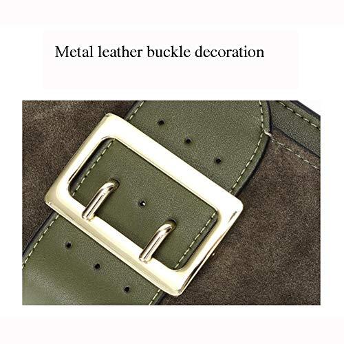 LH-NAUGHTY mini mode axelväska, bred axelrem, messengerväska, liten fyrkantig väska, handväska, 20 x 9 x 14 cm (L x B x H), D
