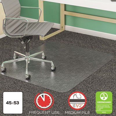 DEFCM14243 - Deflect-o SuperMat Studded Beveled Mat for Medium Pile Carpet by Deflect-O