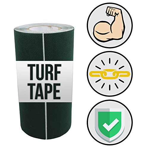 Tough Tape – Artificial Grass Seaming Tape – (6 in x 49.2 ft, Green) – Synthetic Self-Adhesive for Turf, Lawn, & Carpet Jointing