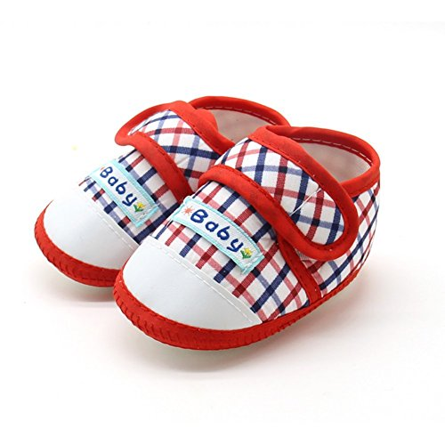 BOBORA Bebe Plaid Suave Inferior Antideslizante Zapatos De Nino A1