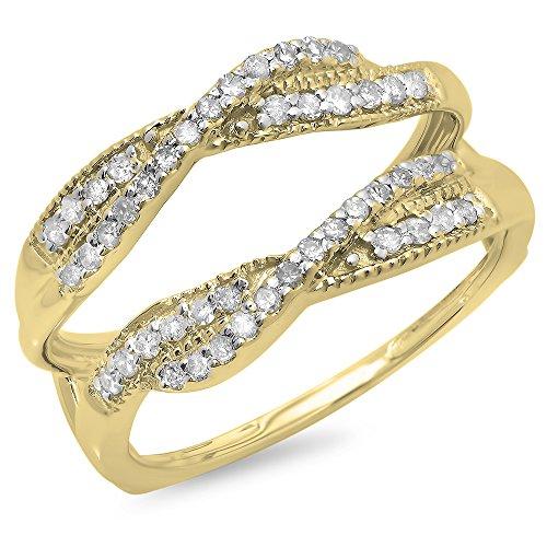 Yellow Gold Diamond Swirl - 9