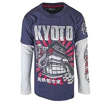 Boys Skulls Monkey Racing Tiger Long Sleeve Skater T-Shirt Top Sizes From 6  To 12 Years: Amazon.co.uk: Clothing
