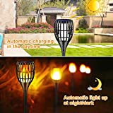 "Ollivage Solar Lights Outdoor, 43"" Flickering"